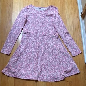 Girls Long Sleeved Floral Dress